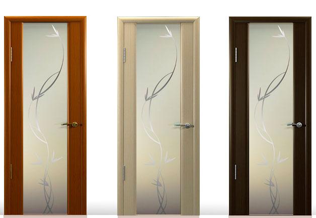 двери межкомнатные со стеклом фото